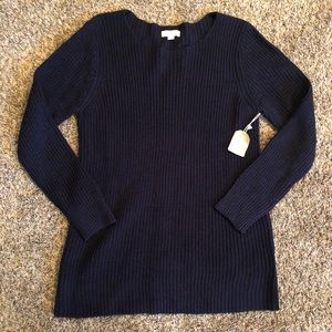 New Large Taylor & Sage Navy Sweater